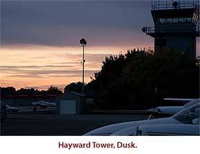 Hayward Tower at dusk