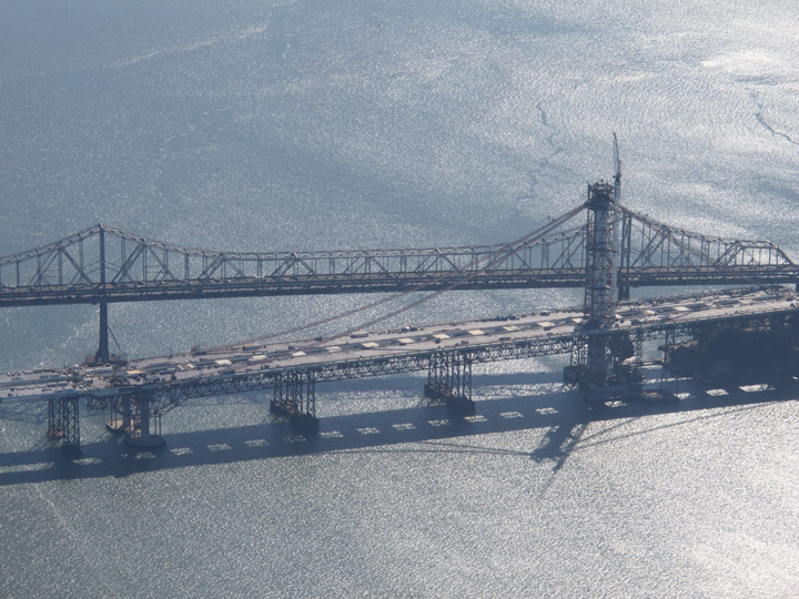 The new Bay Bridge taking shape