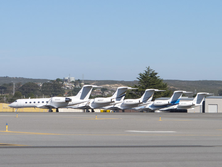 A Bunch Of Business Jets